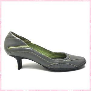 COLE HAAN Nike Air Gray & Green Heels / Pumps 8 B